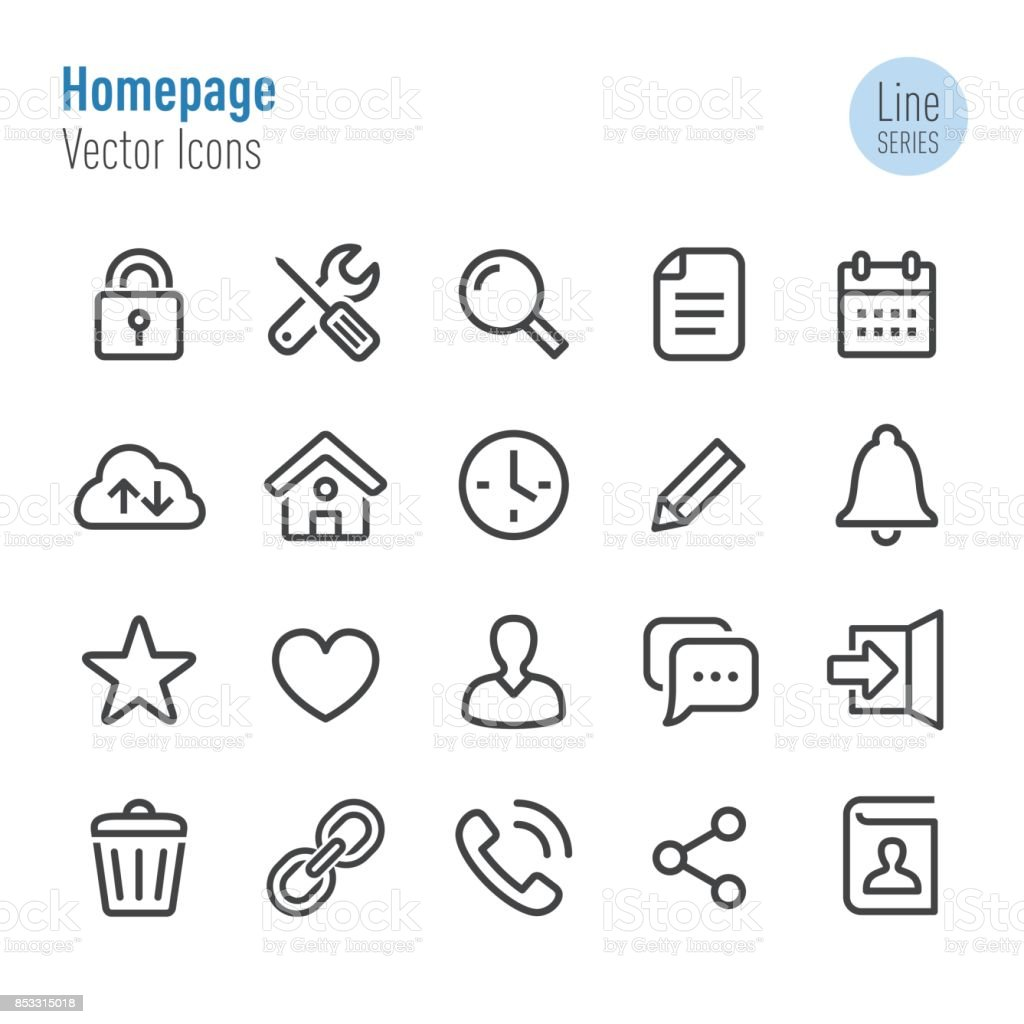 Homepage Icons - Vector Line Series vector art illustration