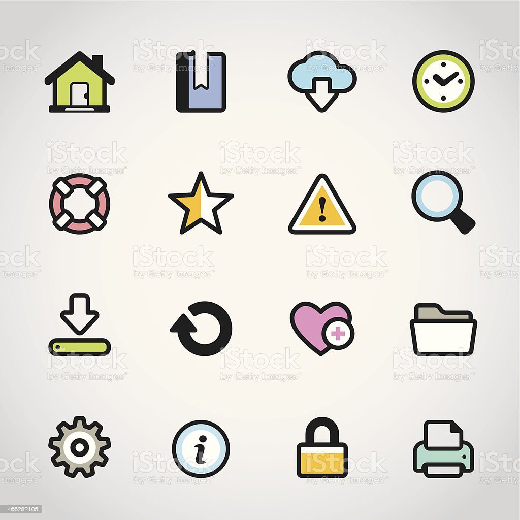 Homepage / Fabrico icons royalty-free stock vector art