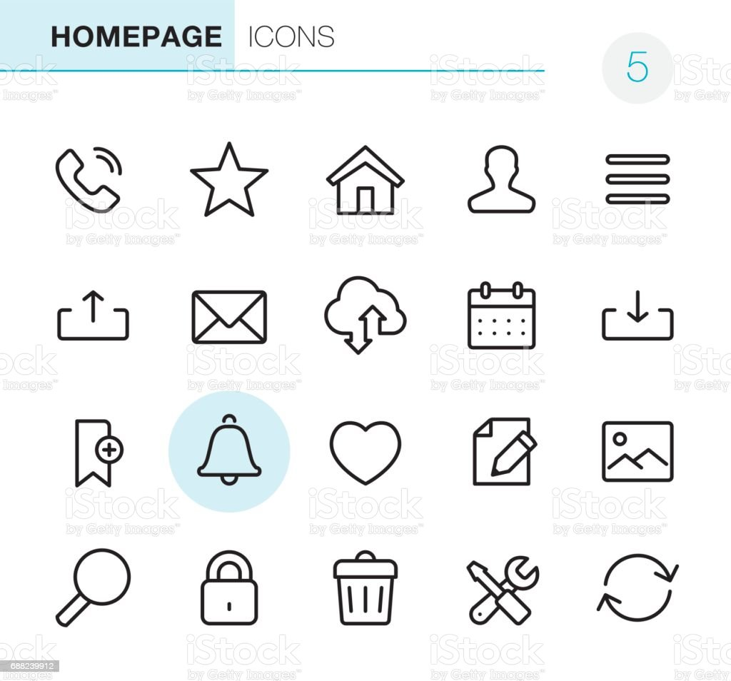 Homepage - Pixel Perfect icons vector art illustration