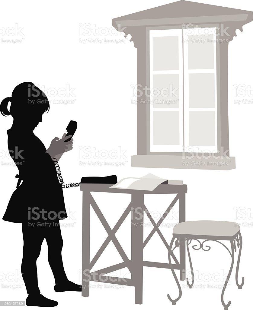 HomePhone vector art illustration