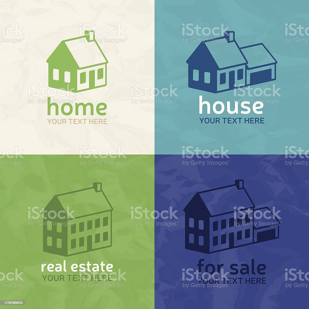 Homes and Real Estate vector art illustration