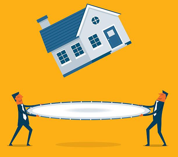 家の値が減少 ベクターアートイラスト