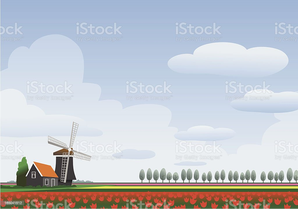 Homescapes - Holland vector art illustration