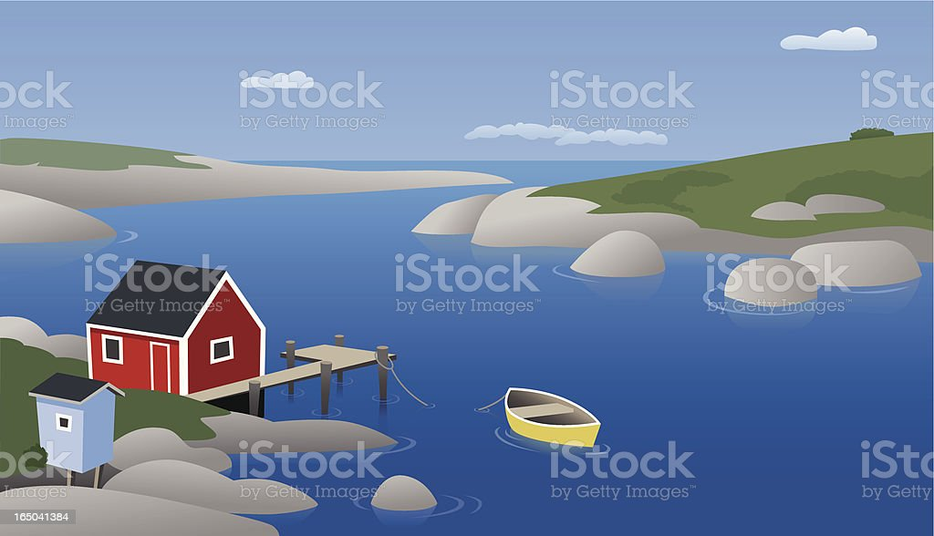 Homescapes - Nova Scotia vector art illustration