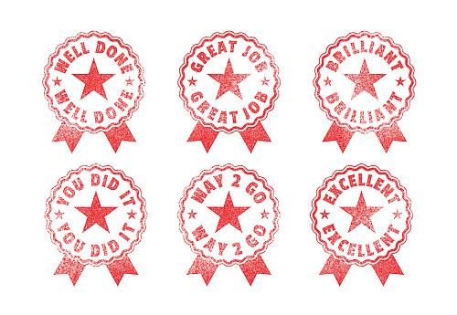 Homework Rubber Stamps School Student Achievements Awards Seals