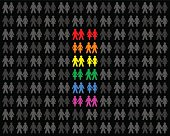 Homosexual Couples And Rainbow Flag