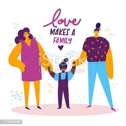 Vector Stock - A happy lgbt adoption family. Clipart Illustration  gg104523011 - GoGraph