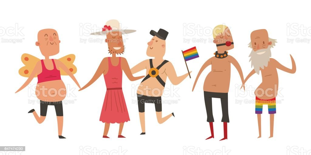 Homosexual gay and lesbian people marriage man, woman couples family and colors free love ceremony community characters tolerance symbol vector illustration vector art illustration