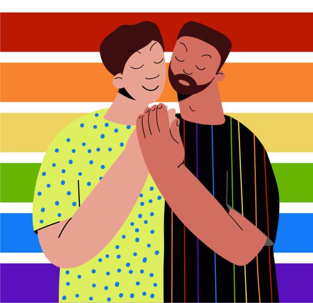118 Gay Men Hugging Illustrations & Clip Art - iStock