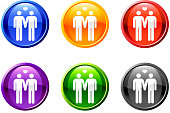 homosexual royalty free vector icon set on round shiny buttons