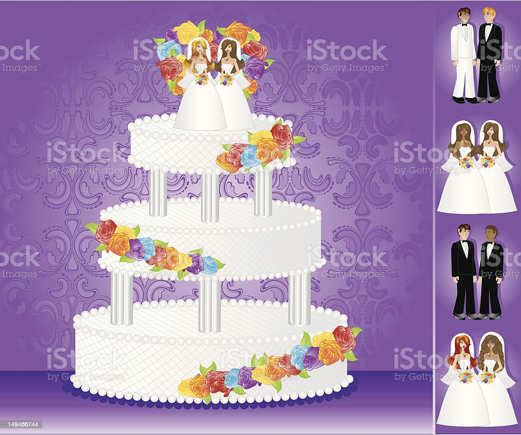 Homosexual Wedding Cake royalty-free homosexual wedding cake stock vector art & more images of adult