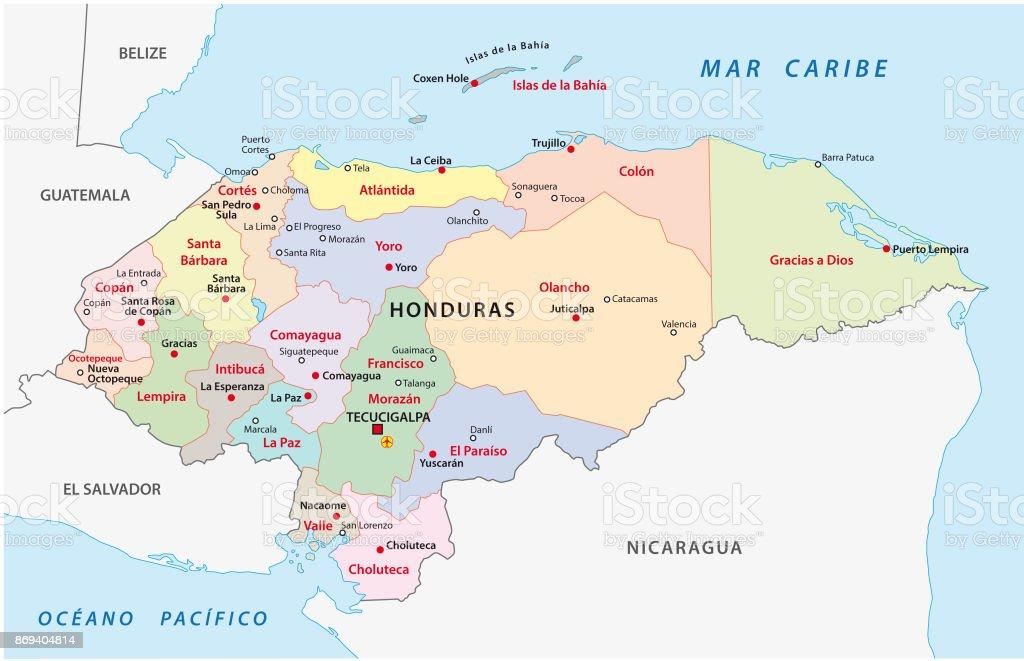 Honduras Administrative And Political Map Stock Vector Art More