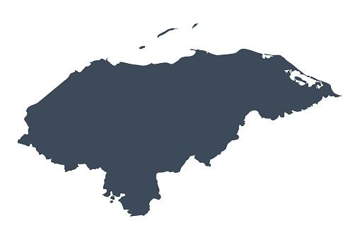 Honduras country map