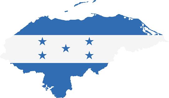 Honduras flag map