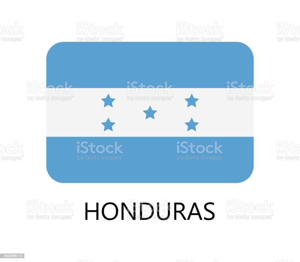Honduras flag vector art illustration