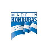Honduras national flag, vector illustration on a white background