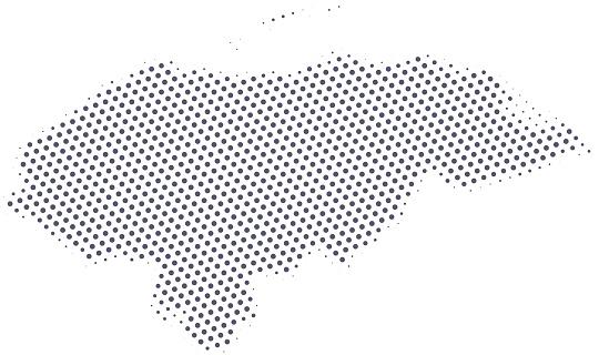 Honduras map of dots