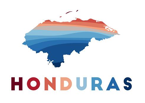 Honduras map.