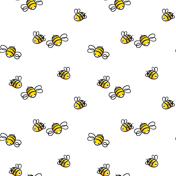 honey and Bee vector vector art illustration