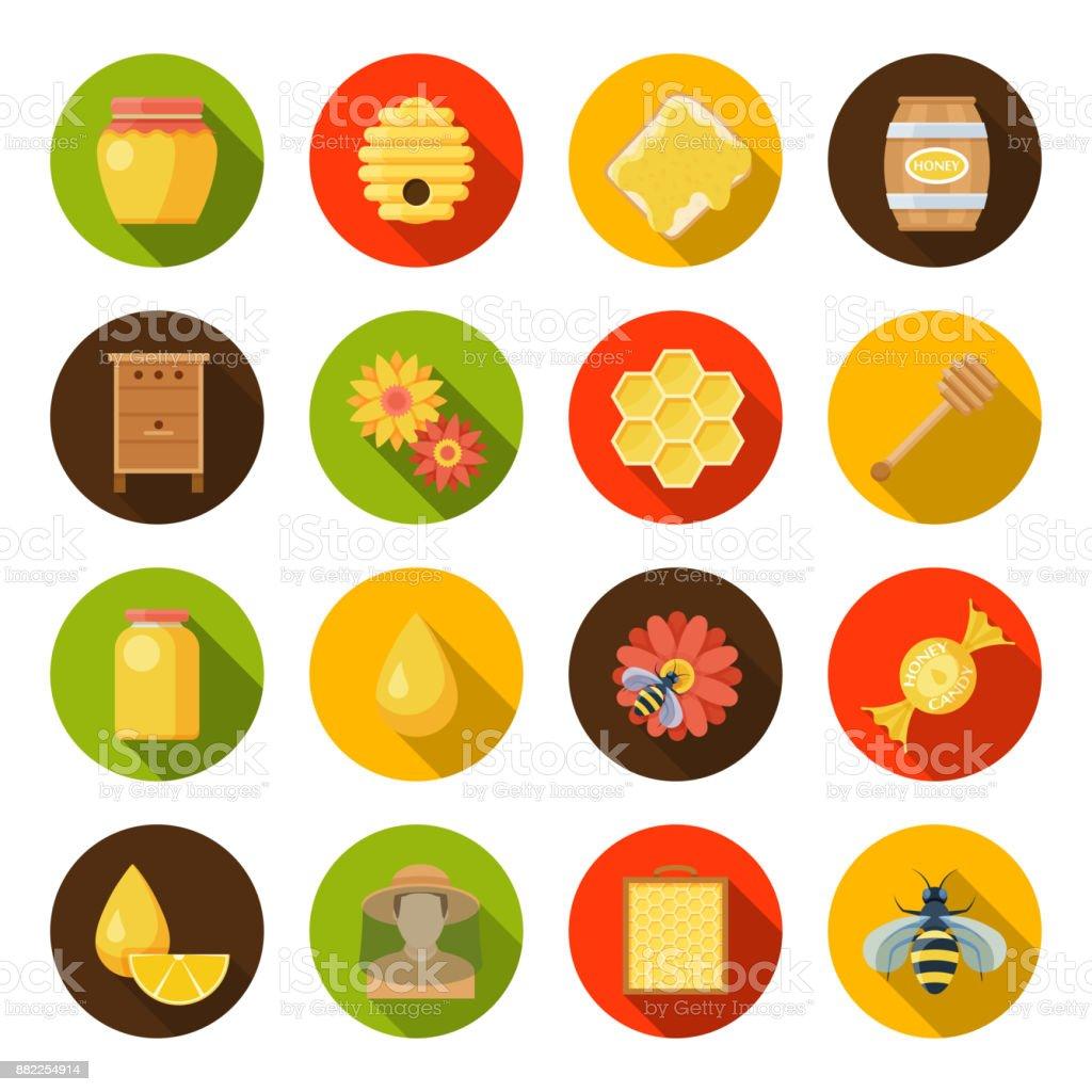 Miel ruchers ensemble - Illustration vectorielle