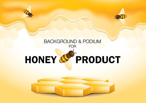 honey background.