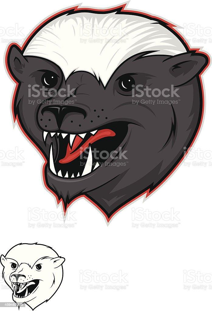 Honey Badger Illustration vector art illustration