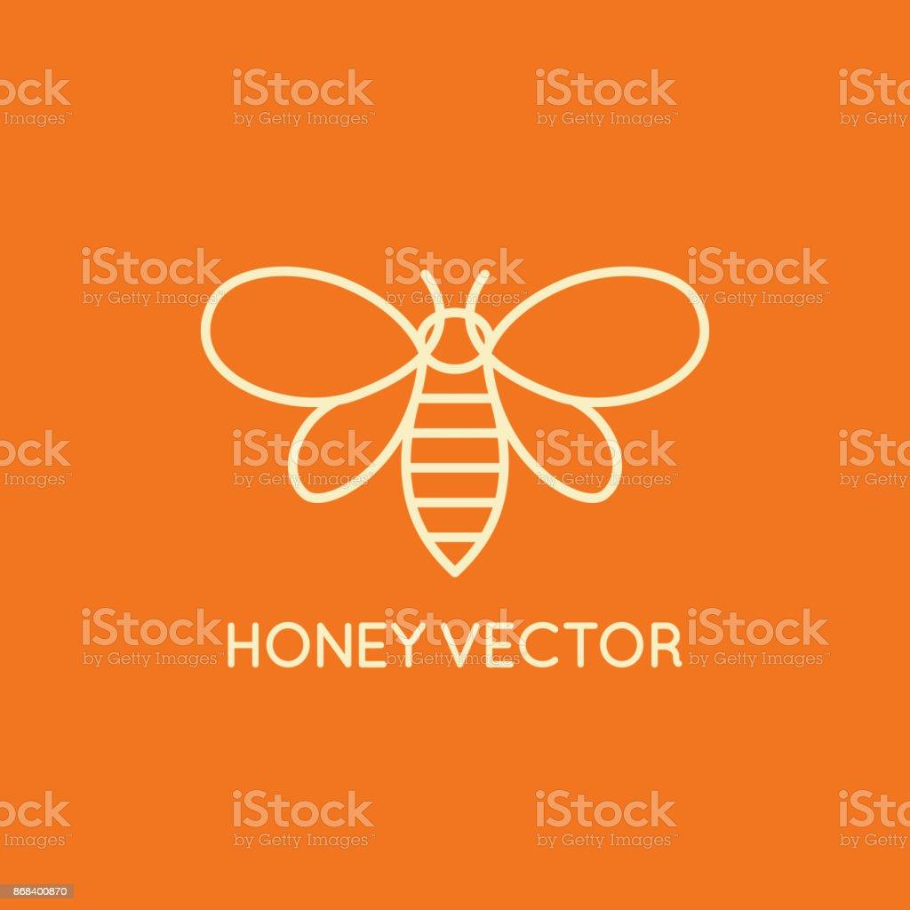 Concept d'abeille Miel - emblème pour l'emballage alimentaire - Illustration vectorielle
