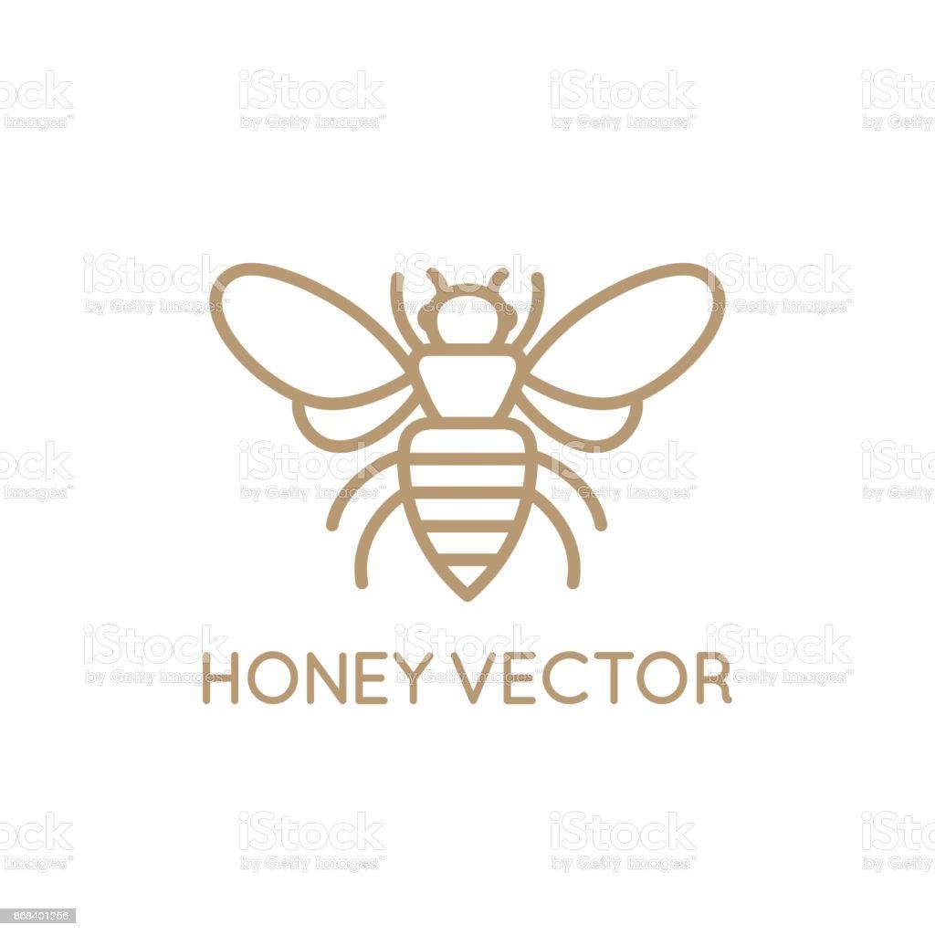 Concept d'abeille miel - Illustration vectorielle