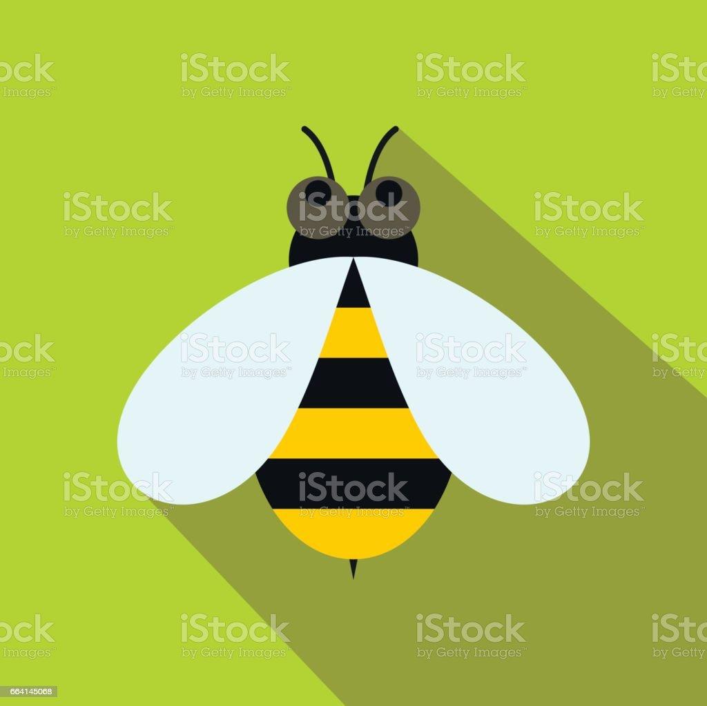 Honey bee icon, flat style honey bee icon flat style - immagini vettoriali stock e altre immagini di animale royalty-free