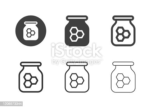 Honey Bee Icons Multi Series Vector EPS File.