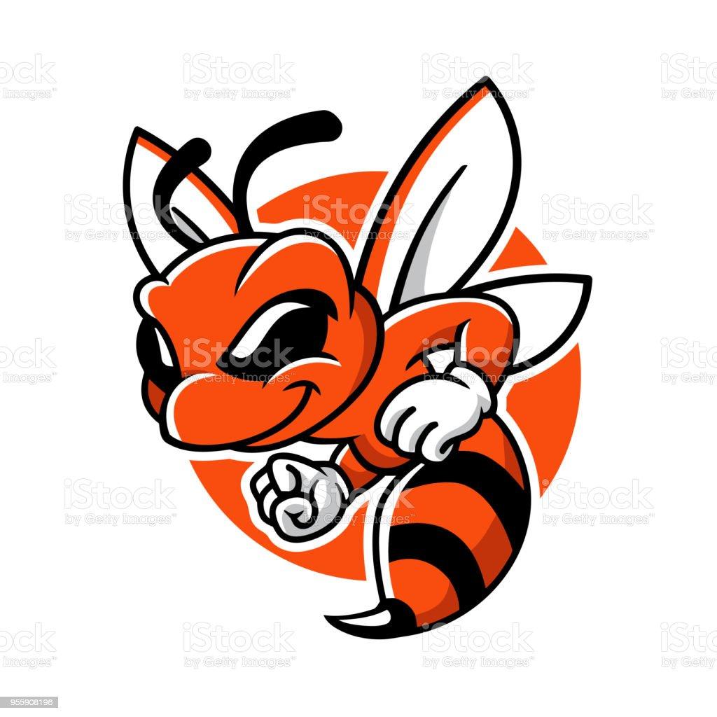 Miel abeille mascotte Vector Cartoon Character Design - Illustration vectorielle