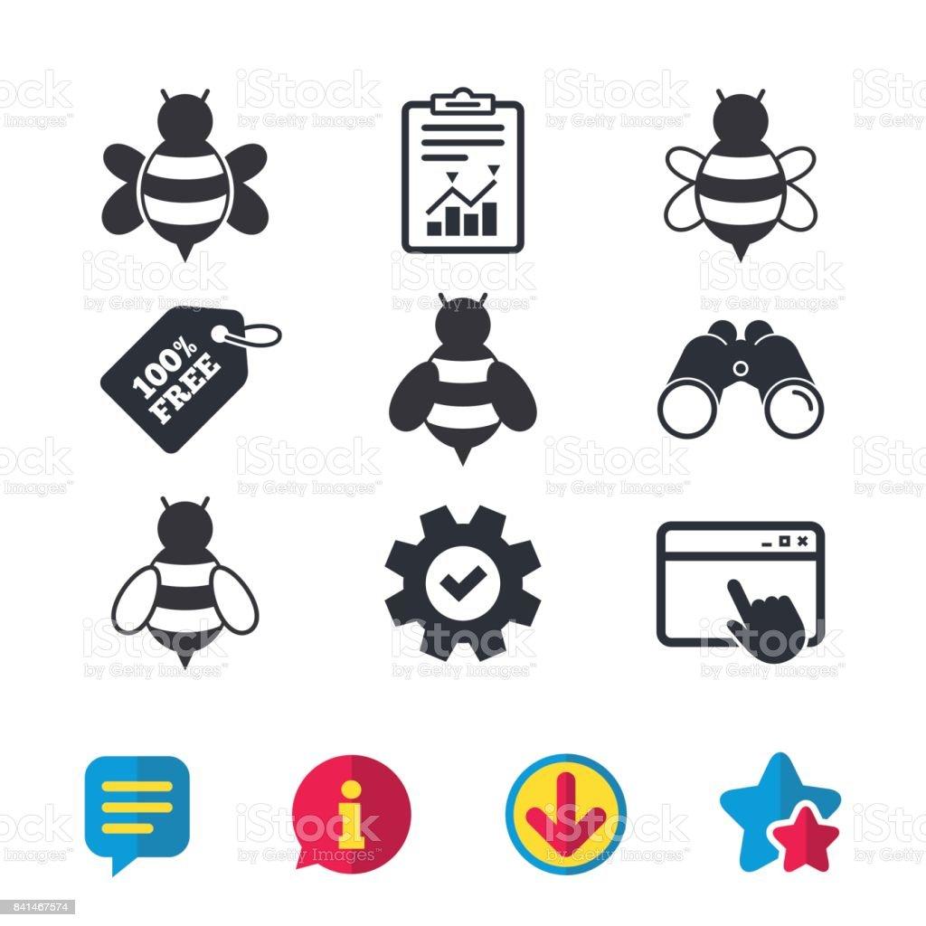 Honey bees icons bumblebees symbols stock vector art 841467574 bumblebees symbols royalty free stock vector art biocorpaavc