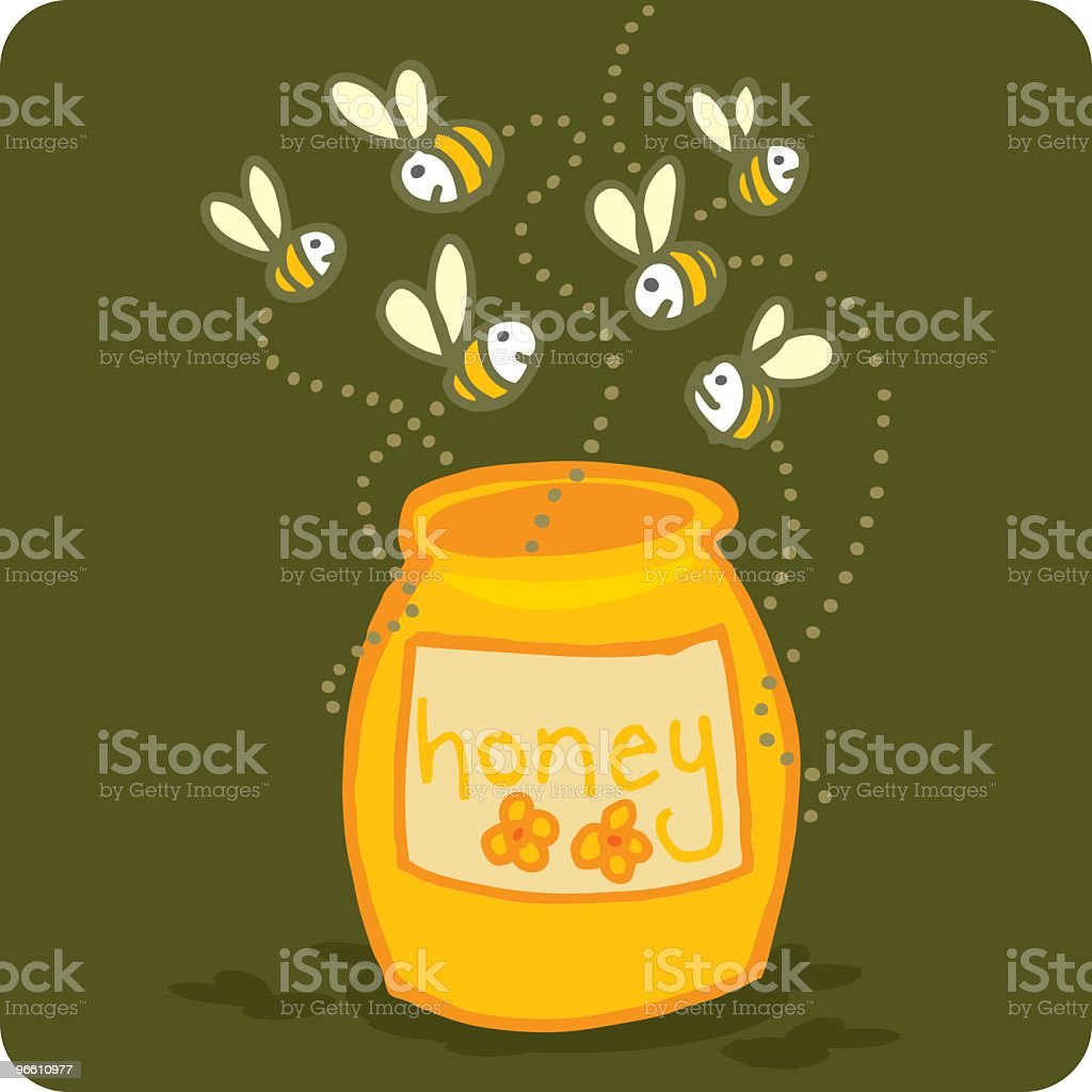 Honey Bees - Royalty-free Animal Themes stock vector