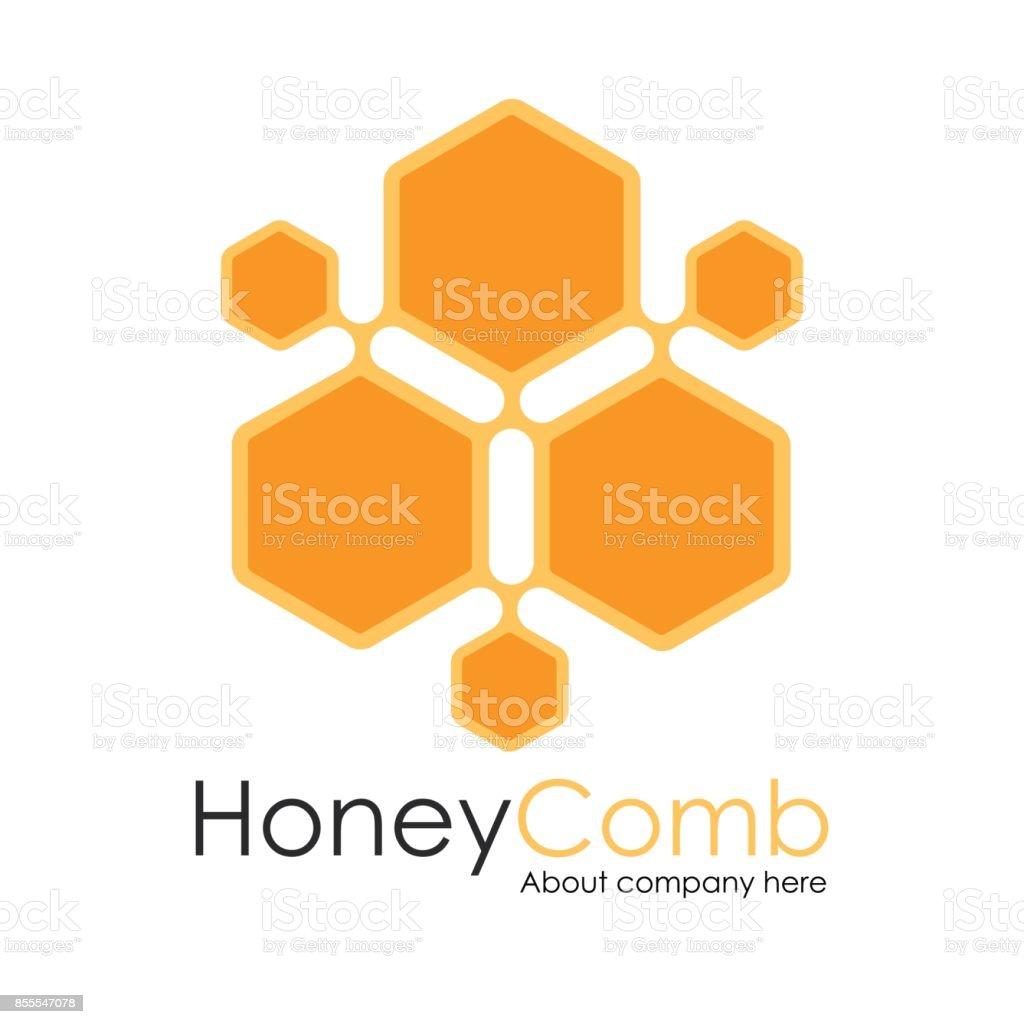 Honey Comb Logo Template Design Vector, honeycomb Emblem, Concept vector art illustration