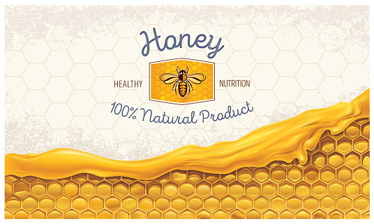 Honey combs with design element