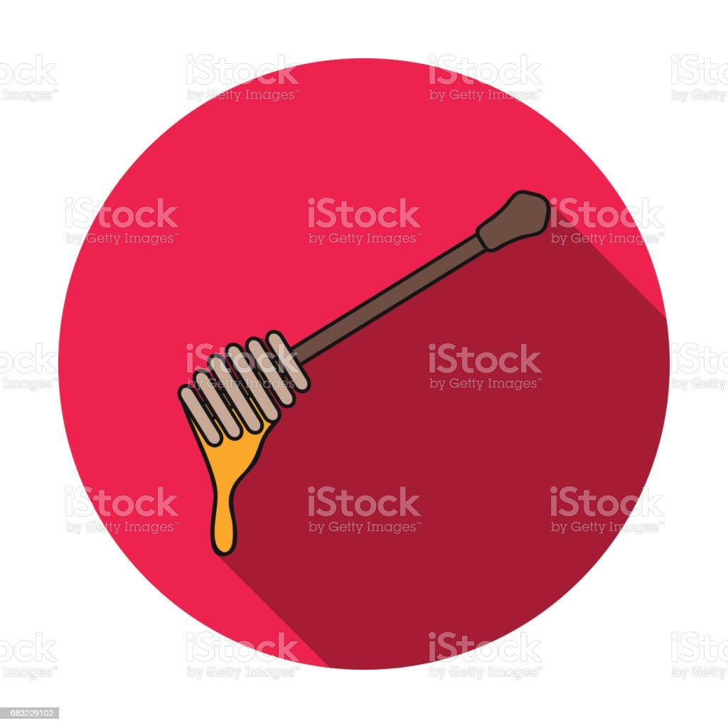 Honey dipper icon in flat style isolated on white background. Apairy symbol stock vector illustration ロイヤリティフリーhoney dipper icon in flat style isolated on white background apairy symbol stock vector illustration - イラストレーションのベクターアート素材や画像を多数ご用意