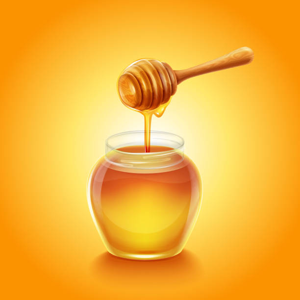 illustrazioni stock, clip art, cartoni animati e icone di tendenza di honey dipper - miele dolci