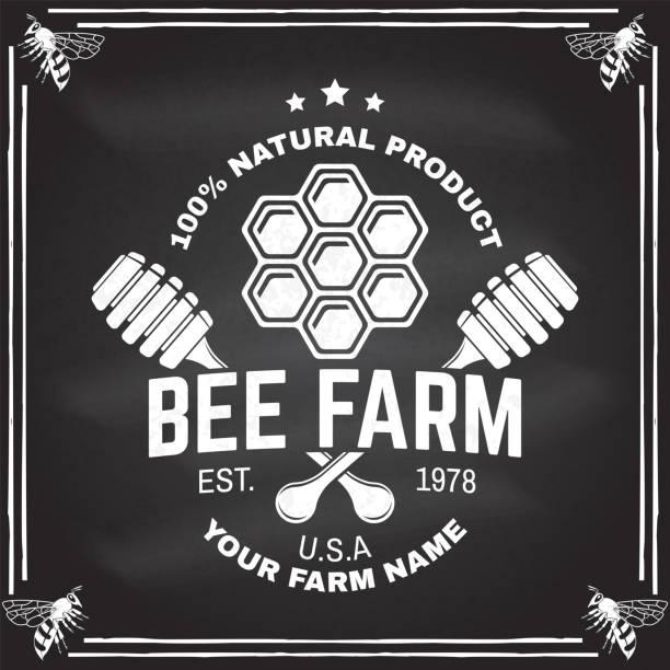 Bee Farm Labels Set