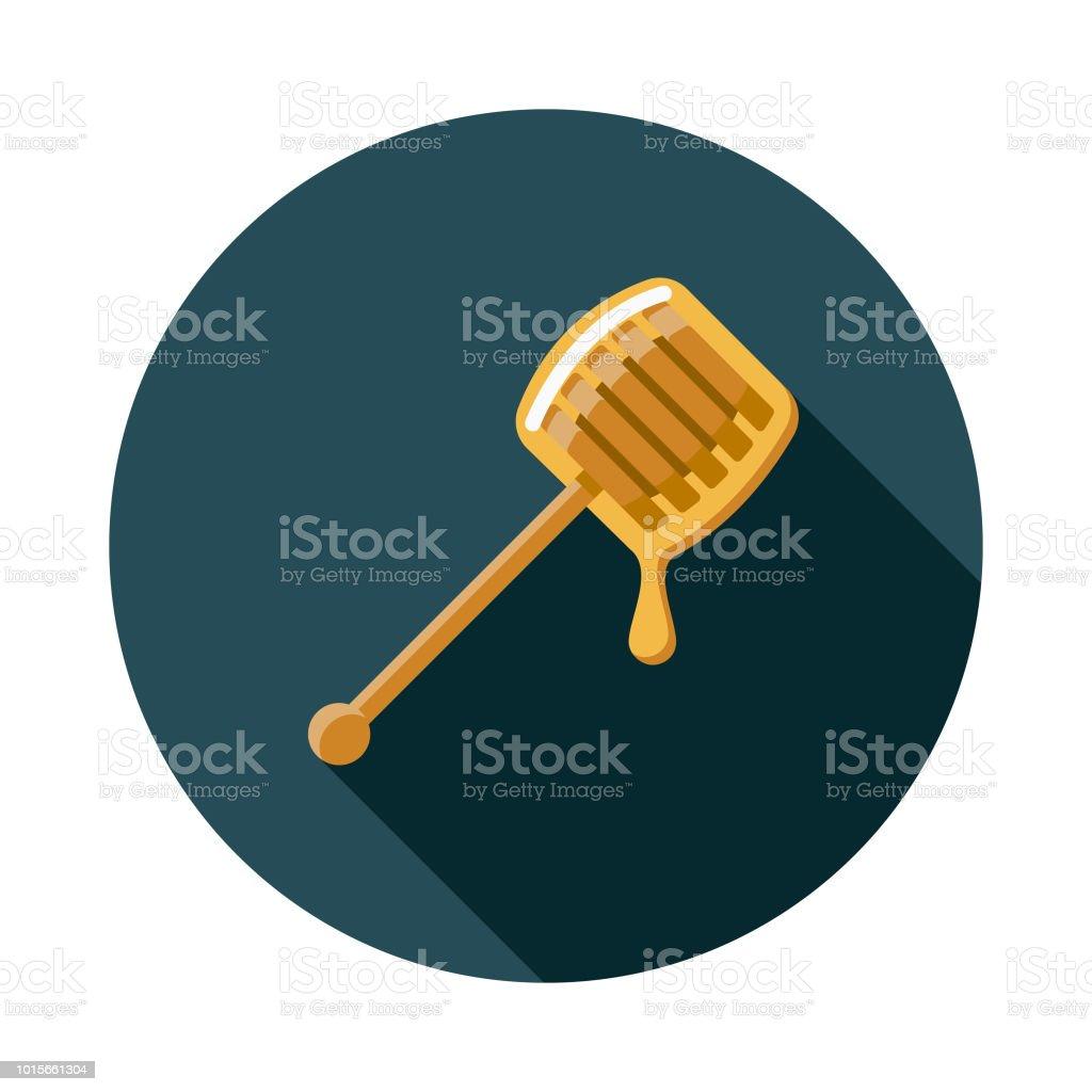 Honey Flat Design Breakfast Icon vector art illustration