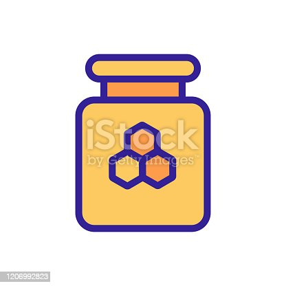 Honey icon vector. Thin line sign. Isolated contour symbol illustration