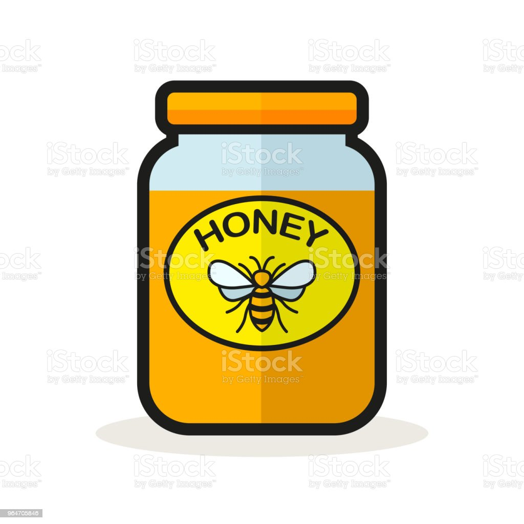 honey jar on white background royalty-free honey jar on white background stock vector art & more images of bee