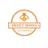 Honey Label isolated on white background