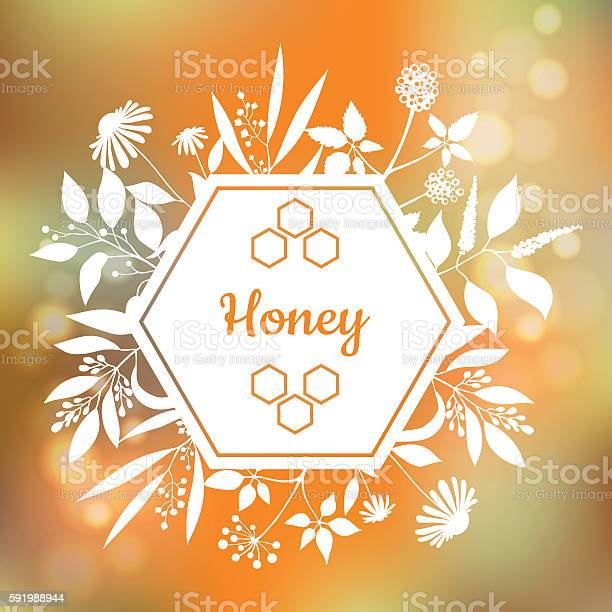 Honey label with plants and flowers vector id591988944?b=1&k=6&m=591988944&s=612x612&h=or8extnd5my4w8uhpoxui3rg0yckfj1xj6unjv0zwlq=
