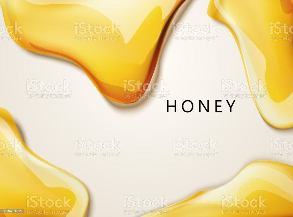 Honey liquid texture vector art illustration
