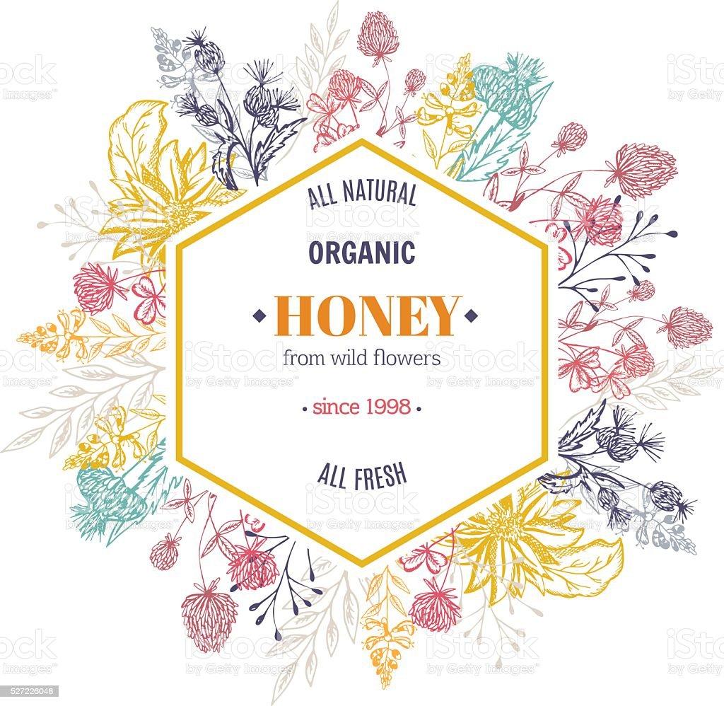 Emballage de miel - Illustration vectorielle