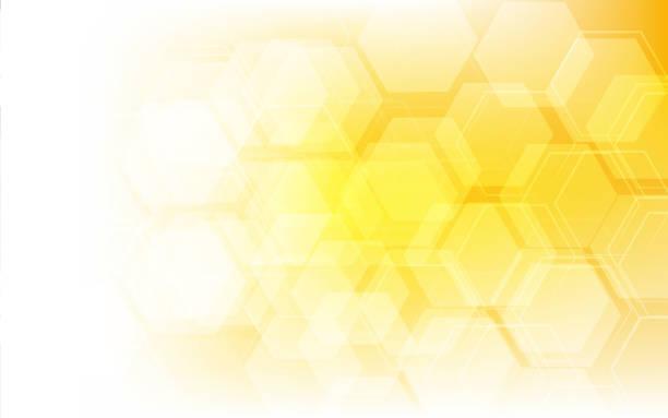 허니 패턴 벡터 일러스트레이션 - 노랑 stock illustrations