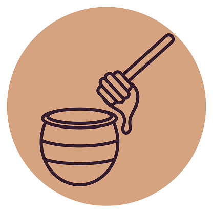 Honey Pot - Thin Line Breakfast Icon