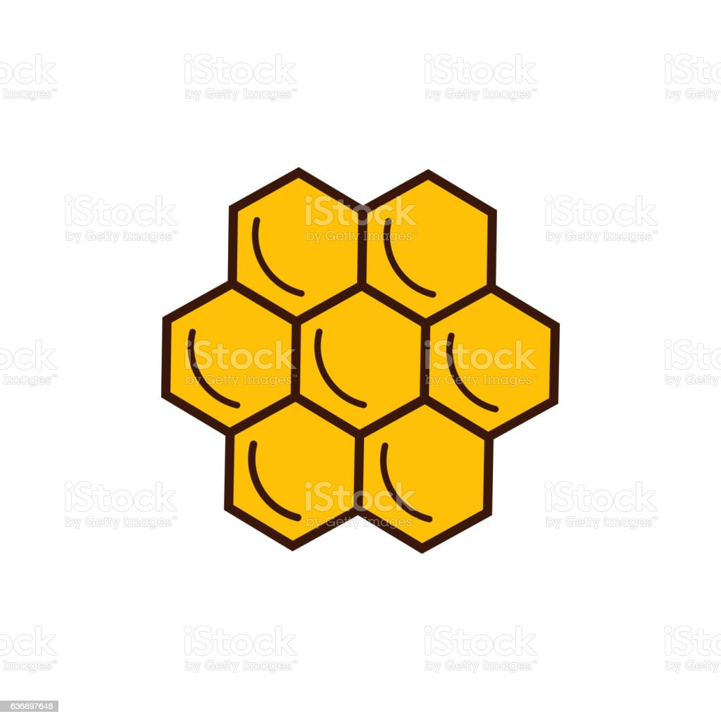 Honey product icon. vector art illustration
