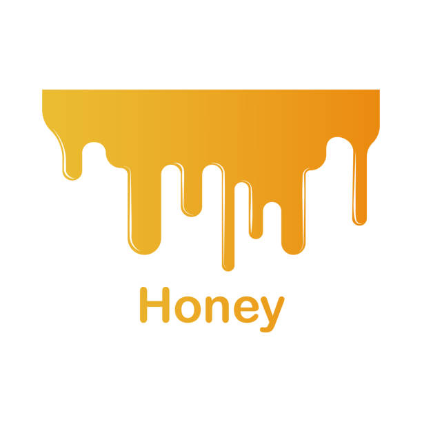 honey splash illustration. element of colored splash for mobile concept and web apps. detailed honey illustration can be used for web and mobile. premium icon - honey drip stock illustrations, clip art, cartoons, & icons