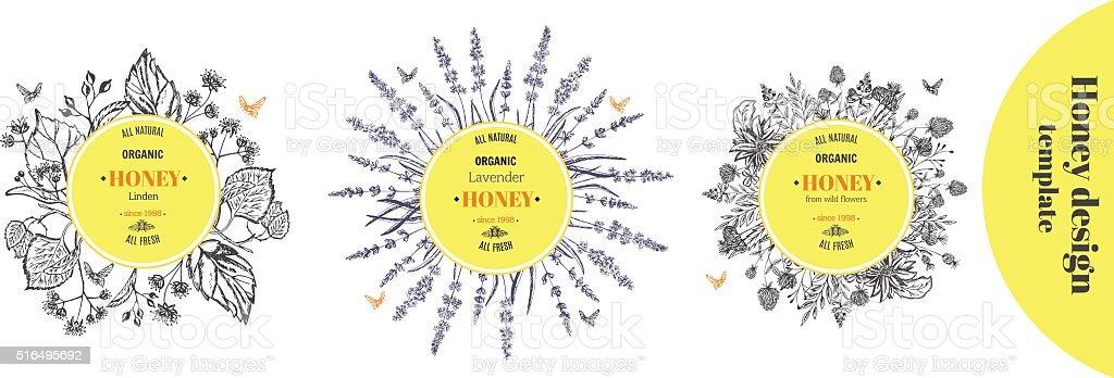 Modèle de miel - Illustration vectorielle